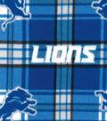 Detroit Lions Fleece Fabric -Plaid