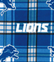 Detroit Lions Fleece Fabric -Plaid, , hi-res