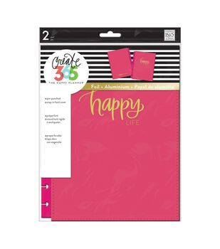 Happy Planner Medium Snap-In Hard Planner Cover-Pink Happy Life
