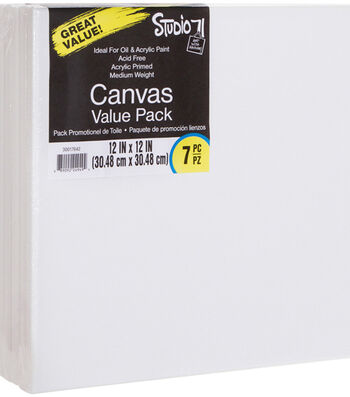 "Studio 71 Stretched Canvas Value Pack 7 Pack 12""X12"""