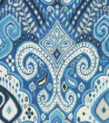 Waverly Sun N\u0027 Shade Outdoor Fabric 54\u0022-Boho Passage Lapis