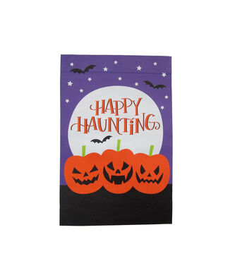 Maker's Halloween 12''x18'' Flag-Happy Haunting