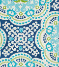 Waverly Sun N Shade Fabric-Astrid Turquoise
