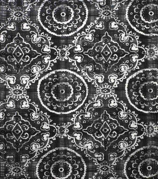 Oudoor Canvas Fabric-Medallion Grey