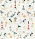 Novelty Cotton Fabric-Nautical Icons