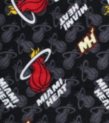 Miami Heat Fleece Fabric -Logo Toss