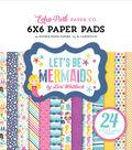 Double-Sided Paper Pad 6\u0022X6\u0022-Let\u0027s Be Mermaids