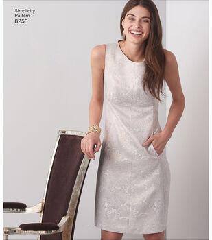 Simplicity Pattern 8258 Misses' & Plus Size Dress-Size AA (10-18)