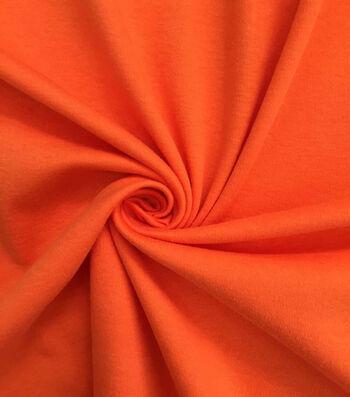 "Doodles Cotton Interlock Fabric 57""-Orange"