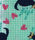 Novelty Cotton Fabric 43\u0022-Live Your Life