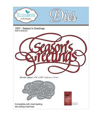 Elizabeth Craft Designs Quietfire Wafer Thin Metal Die-Season's Greeting