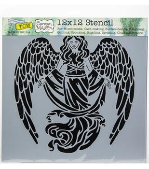 "Crafter's Workshop Template 12""X12""-Prayful Angel"
