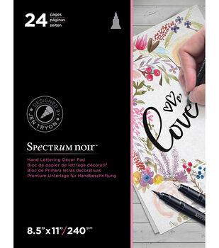 Spectrum Noir 8.5''x11'' Hand Lettering Decor Pad-Love