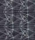Modern Cotton Fabric 43\u0027\u0027-Graph Paper Circles on Black