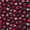 Holiday Inspirations Valentine\u0027s Day Fabric -Black with Heart