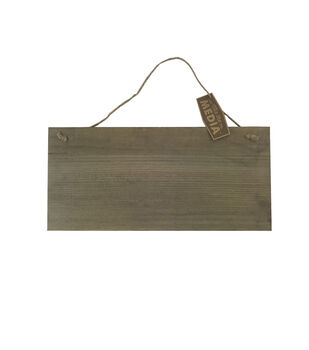 Mix the Media 15''x7'' Hanging Wood Sign-Rustic