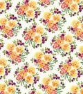 Premium Cotton Print Fabric 43\u0027\u0027-Packed Floral Bunches