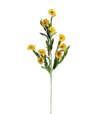 Fresh Picked Spring 30'' Daisy Eva Spray-Yellow