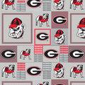 University of Georgia Bulldogs Fleece Fabric -Gray Block