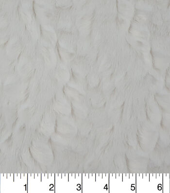 "Fashion Faux Rabbit Fur Fabric 57""-White"
