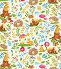 Snuggle Flannel Fabric 42\u0022-Warm Fuzzy Woodland