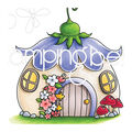 Stamping Bella Rubber Cling Stamp-Little Bits Fairy House