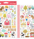 Doodlebug Design Mini Cardstock Stickers-Down on the Farm Icons