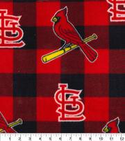 St. Louis Cardinals Fleece Fabric-Buffalo Plaid, , hi-res