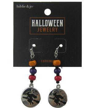 hildie & jo Halloween Earrings-Witch