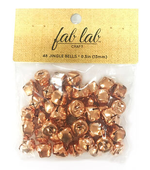Fab Lab Craft 48 pk 0.5'' Jingle Bells-Copper
