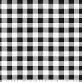 Super Snuggle Flannel Fabric-Black White Buffalo Check