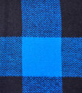 3 Yard Pre-Cut Buffalo Check Shirting Fabric Remnant-Blue Black