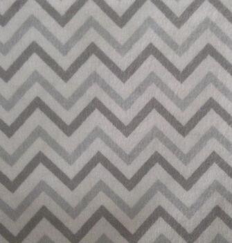 Snuggle Flannel Fabric -Gray Chevron