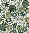 Quilter\u0027s Showcase Cotton Fabric -Hunter Floral Medallion