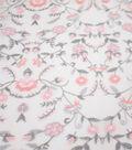 Casa Embellish Dahlia Fabric-Harbor Mist All Over Embellished Floral