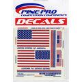 Pine Car Derby Decal 4\u0022X5\u0022-USA Flags