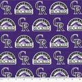 Colorado Rockies Cotton Fabric -Logo