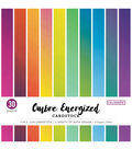 Colorbok Single-Sided Cardstock 12\u0022X12\u0022-Ombre Energized, 15 Colors