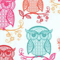 Novelty Cotton Fabric-Patterned Owls
