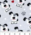 Snuggle Flannel Fabric 42\u0022-Pups And Hearts