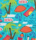 Novelty Cotton Fabric 43\u0027\u0027-Beach Day