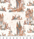 Harvest Cotton Fabric 43\u0022-Stags in the Forest