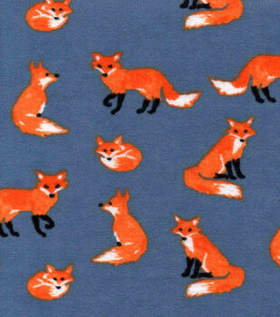 Snuggle Flannel Fabric -Watercolor Foxes