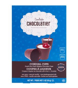 ChocoMaker Chocolatier 8 pk 64% Dark Belgian Chocolate Cordial Cups