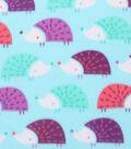 Blizzard Fleece Fabric 59\u0022-Multi Color Hedgehogs