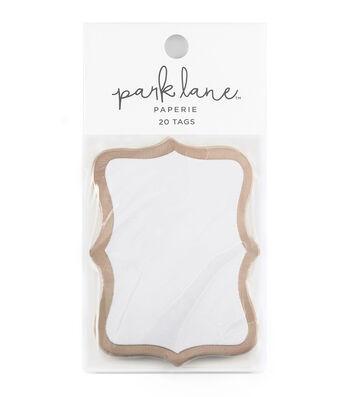 Park Lane 20 pk Cartouche Tags-Rose Gold