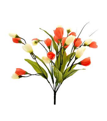 Fresh Picked Spring 18'' Crocus Bush-Cream & Orange