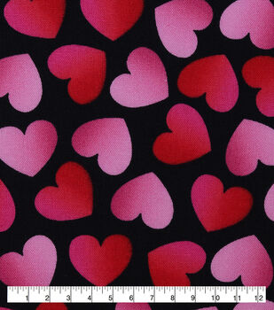 Valentine's Day Cotton Fabric-Tossed Ombre Hearts