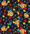 Novelty Cotton Fabric -Art Class