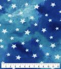 Anti-Pill Plush Fleece Fabric-Tie Dye Stars Blue